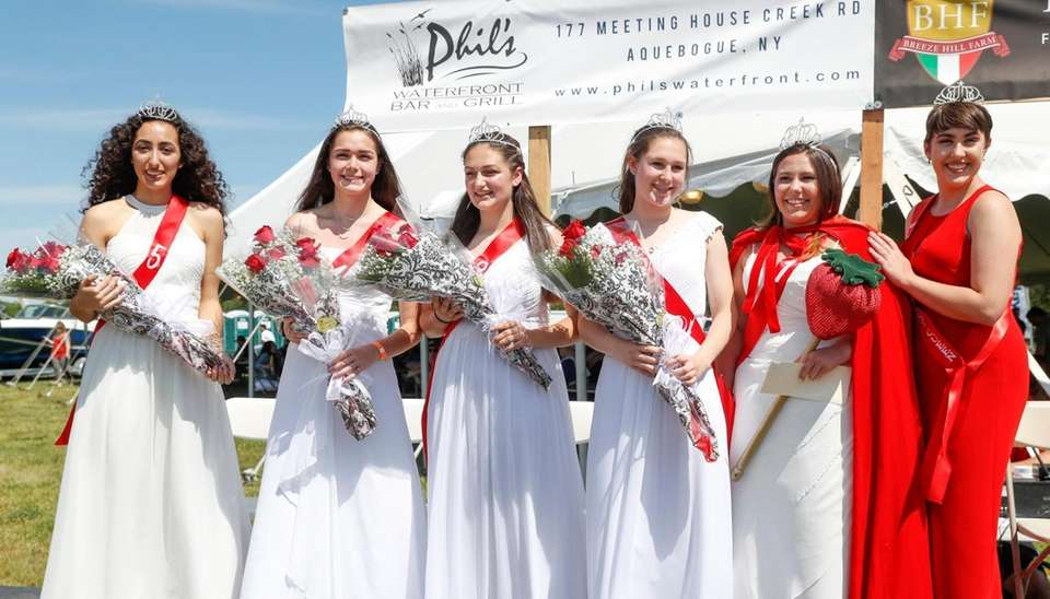 from left, Strawberry Queen runner up Gabrielle Finora,