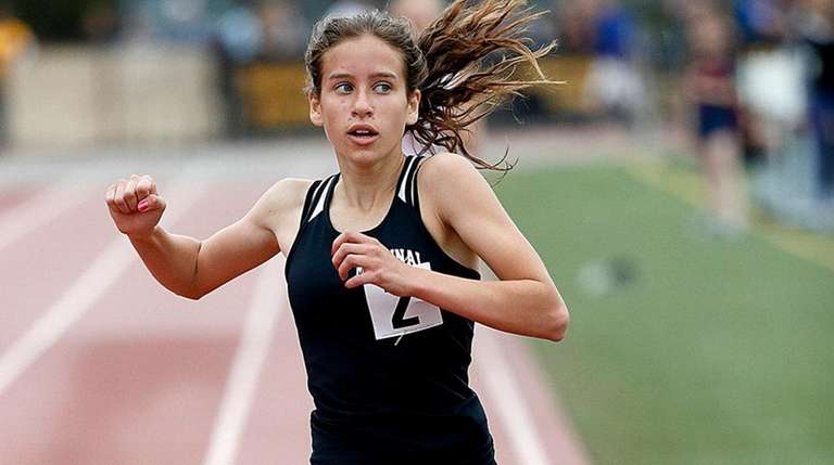 Mt. Sinai's Sarah Connelly wins the girls 300-meter