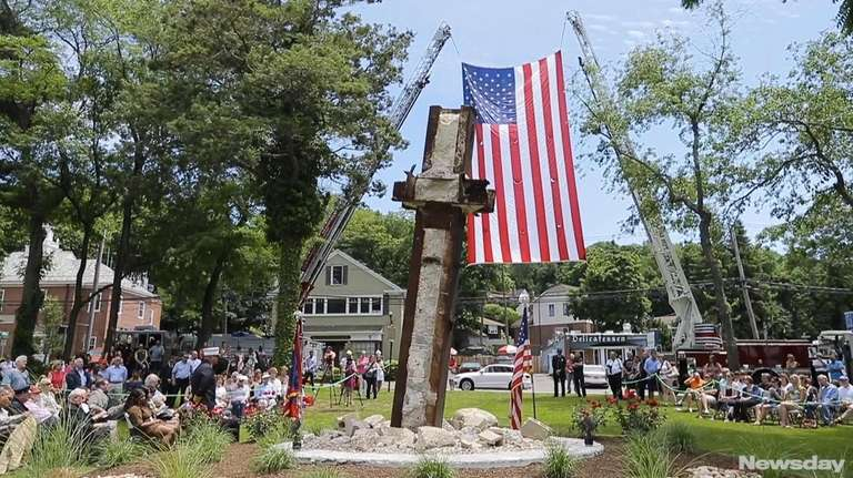 Cold Spring Harbor 9 11 Memorial With Wtc Steel Dedicated