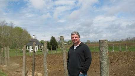 Keith Luce in front of his kitchen garden