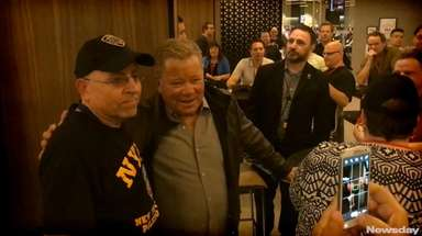 "William Shatner, star of 'Star Trek.'"" spoke with"