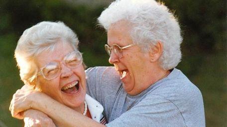 Sisters Elsie Hunter, left, and Uldine Bruno at