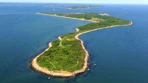 Plum Island is seen in an aerial photo