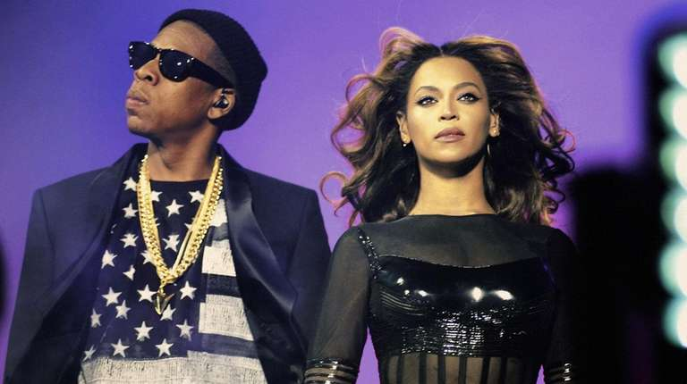 Beyoncé and Jay-Z perform during their On the