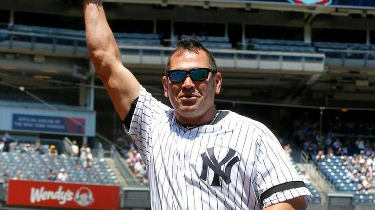 Johnny Damon during old timers day at Yankee