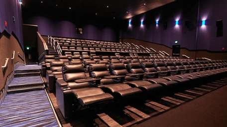 Reclining seats are offered for the 13 screens