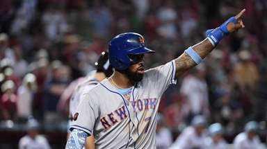 Jose Reyes of the Mets is pumped up