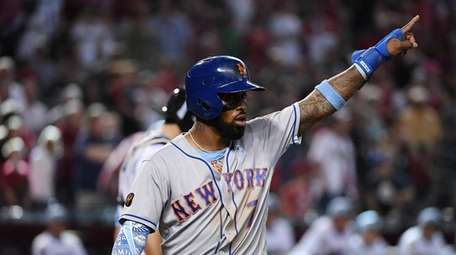 Jose Reyes of the Mets is pumped up