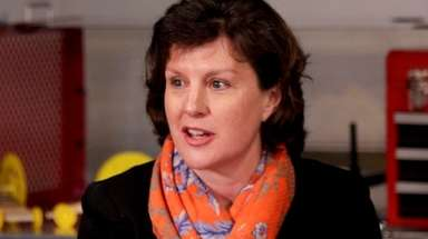 Then-Syracuse Mayor Stephanie Miner speaks during a roundtable