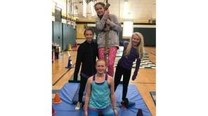 Kidsday reporters from Stony Brook in new yoga