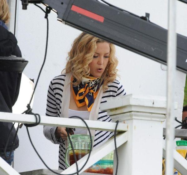 Kate Hudson on a Southampton set