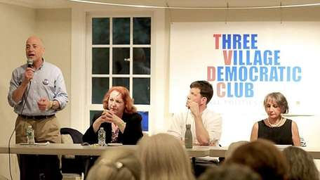 From left, Perry Gershon, Kate Browning, David Pechefsky,