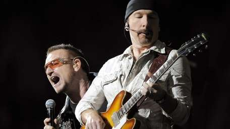 U2's Bono and The Edge at The Clarence
