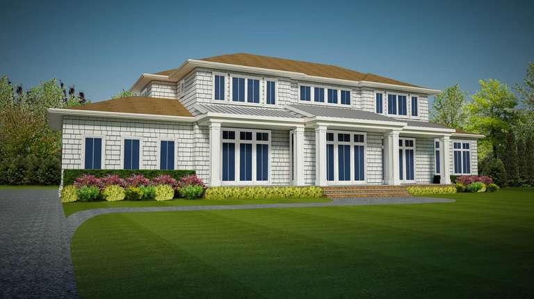 A rendering of the house to be used