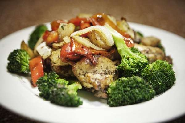 Chicken a la Ciro's is served with vegetables