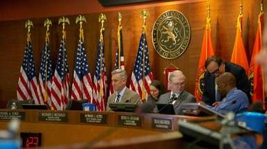 The Nassau County Legislature meeting on Monday in