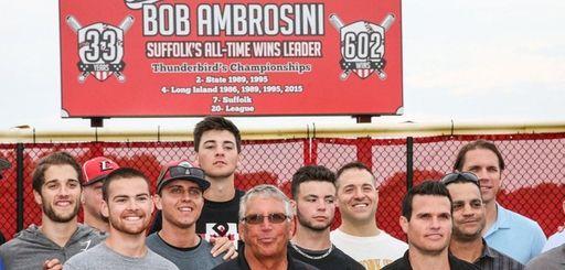Former baseball coach Bob Ambrosini is joined by