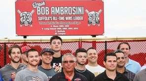 Former baseball coach Bob Ambrosini is joined by
