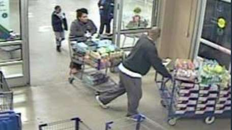 Officials said this surveillance video shows suspects with