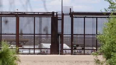 Tents to house unaccompanied immigrant children are seen