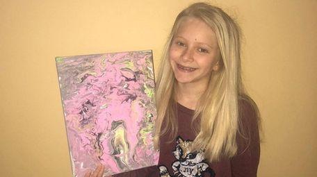 Kidsday reporter Cassidy Ward makes acrylic paintings.