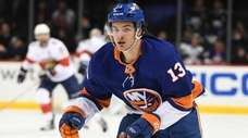 Islanders center Mathew Barzal skates against the Panthers