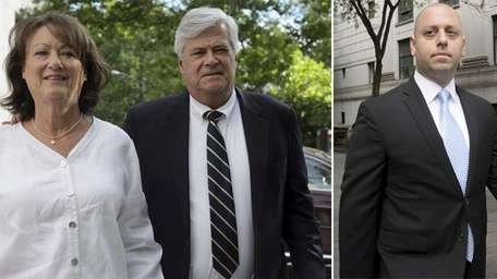 Dean Skelos and his wife, Gail, at left,