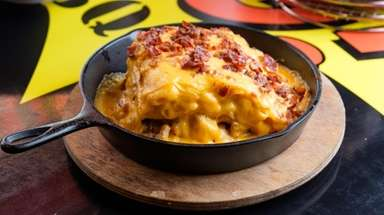 "The ""smokehouse mac & cheese lasagna,"" at Dang"