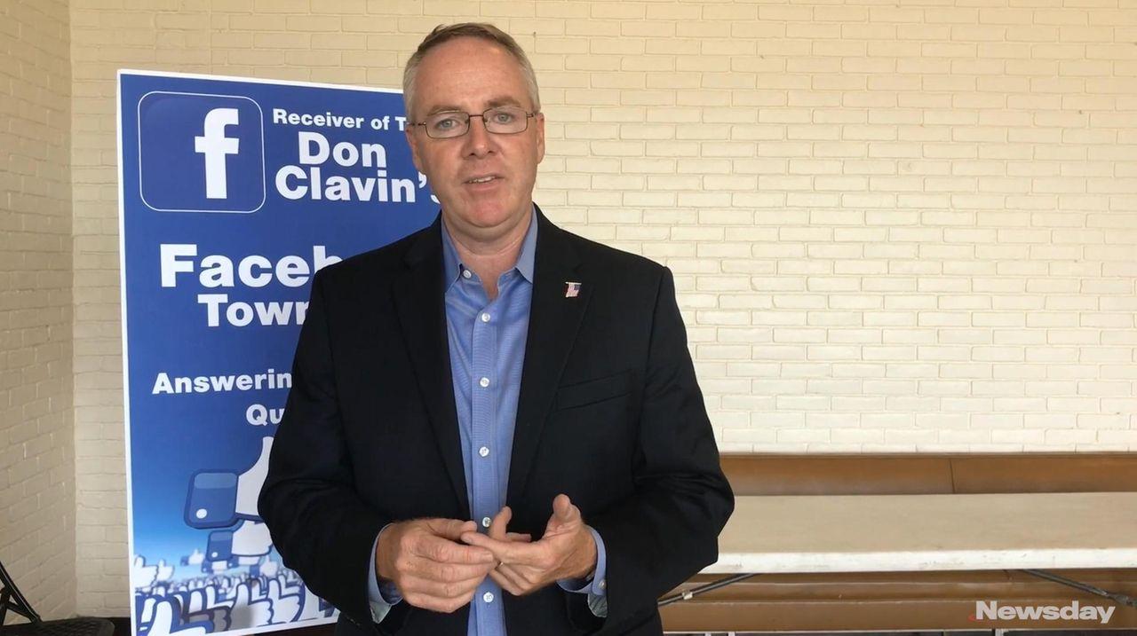 Hempstead Town Receiver of Taxes Don Clavin describes