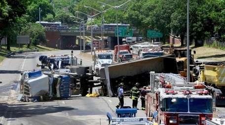 Authorities said the Long Island Expressway reopened in