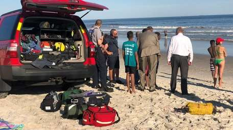 First responders search for a boy who disappeared