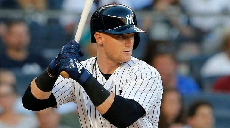Clint Frazier of the Yankees bats in the