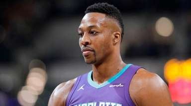 Charlotte Hornets' Dwight Howard in action during the