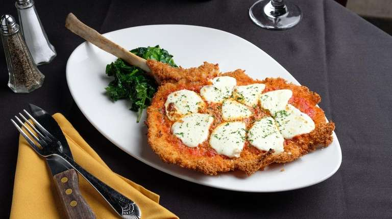 "The stand-out ""Tomahawk"" veal chop Parmesan comes in"