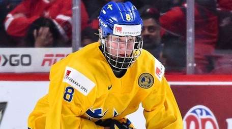 Rasmus Dahlin of Team Sweden during the IIHF