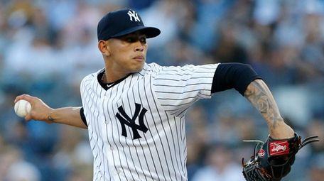 Jonathan Loaisiga #38 of the New York Yankees