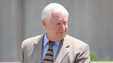 Former Suffolk County District Attorney Thomas Spota leaves
