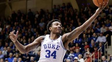 In this Feb. 14, 2018, file photo, Duke's