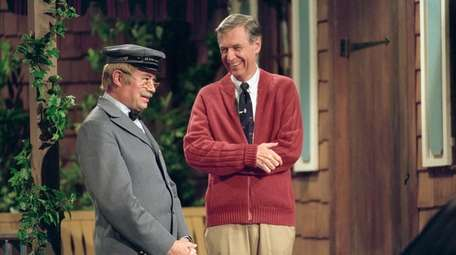 David Newell, left, and Fred Rogers from the