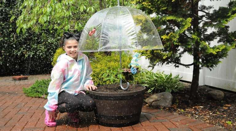 Alayna Gottesman, 9, of Farmingville, takes extraordinary measures