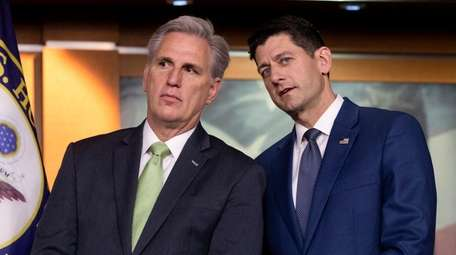 House Majority Leader Kevin McCarthy (R-Calif.), left, and