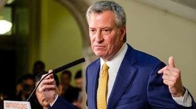 Mayor Bill de Blasio says he is outraged
