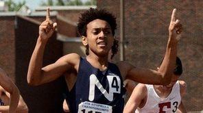 Northport's Elijah Claiborne wins the boys 800 meters