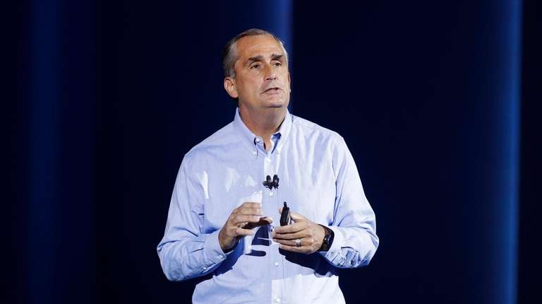 Intel CEO Brian Krzanich, shown in Las Vegas