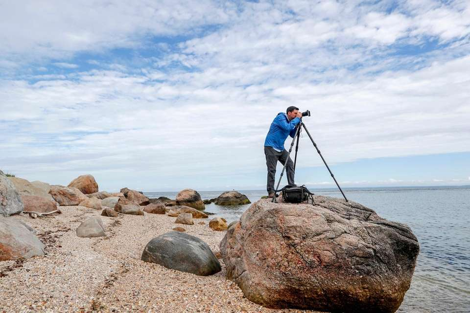 Jeremy Garretson of Southold, a landscape photographer, visits