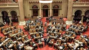 Assembly members vote on Bills in the Assembly