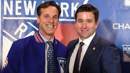 Rangers new head coach David Quinn poses for