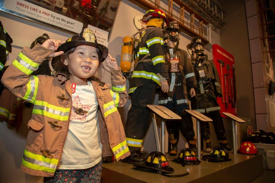 Victoria Kim, 5, enjoys time at the Nassau