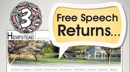A screenshot of the Hempstead website with graphics