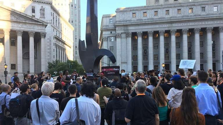 Advocates for criminal justice reform attend a rally